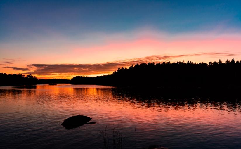 Hur röd var solnedgången påriktigt?